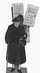 Grande dame of civil rights pickets in D.C. - 1950