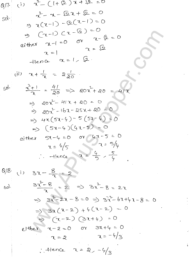 ml-aggarwal-icse-solutions-for-class-10-maths-chapter-5-quadratic-equations-in-one-variable-9