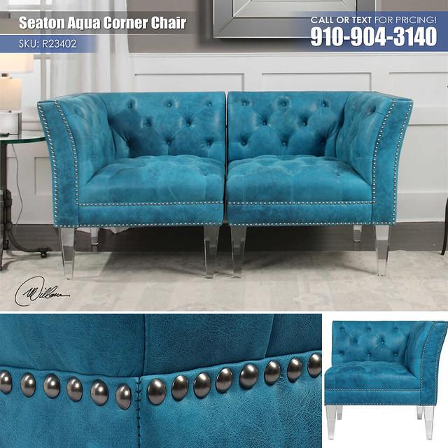 Seaton Aqua Corner Chair R23402