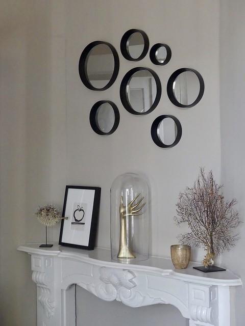 Ronde spiegeltjes schouw stolp