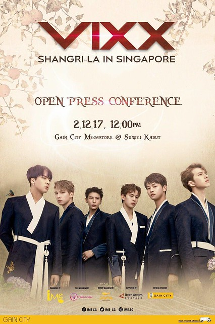 VIXX Shangri-La in Singapore Open Press Con
