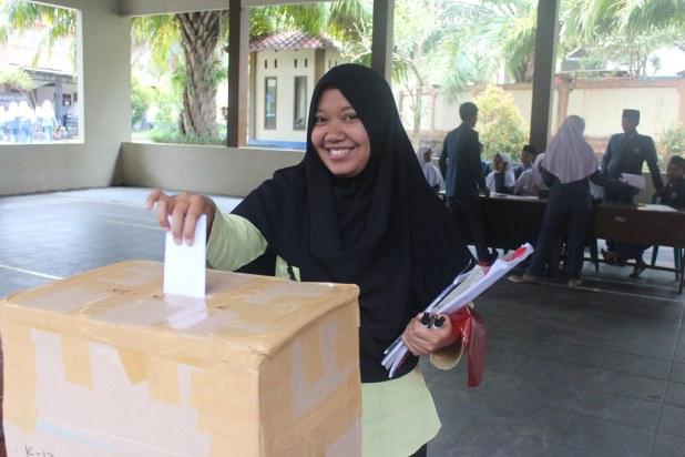 Pemilu Raya OSIS SMP Bustanul Makmur Genteng