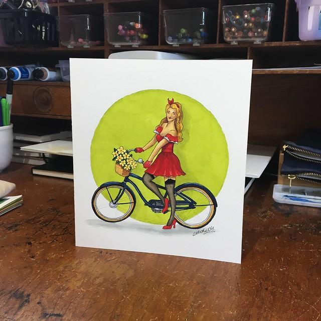 Pinup cycle girl