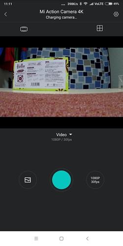 Xiaomi mijia action carmera mini 4K WIFI ペアリング設定方法 (13)