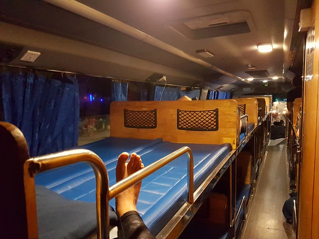 Nos nuits dans les sleepings bus, ici au Cambodge