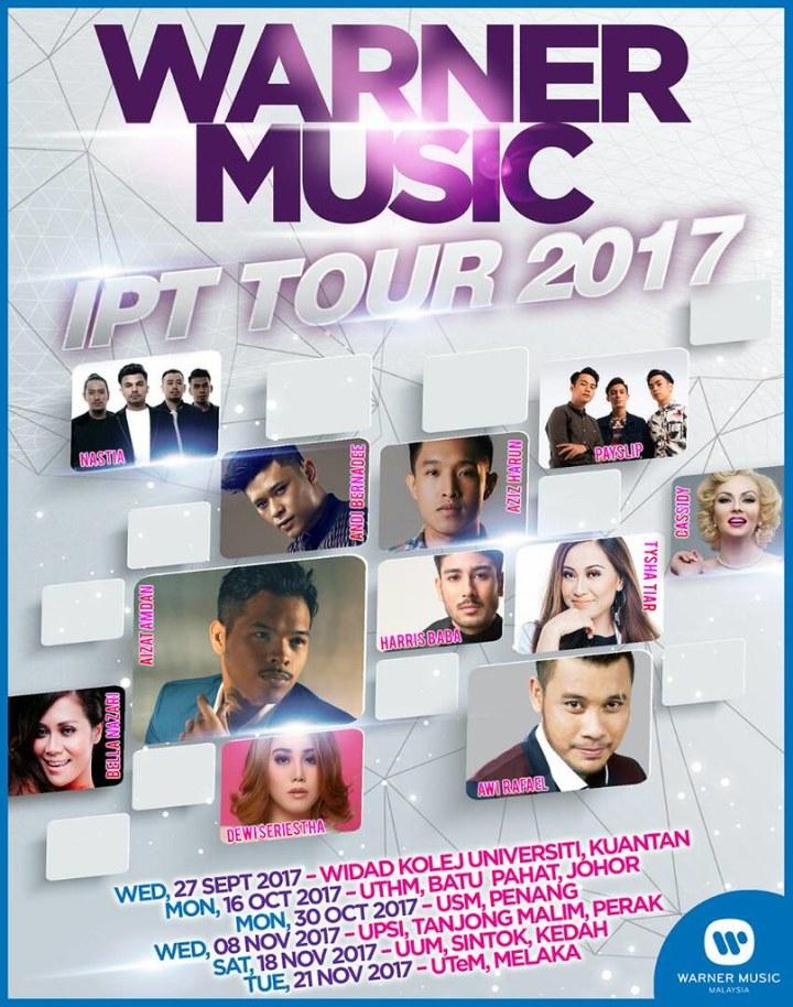 Warner Music IPT Tour 2017. Jelajah 6 Negeri!