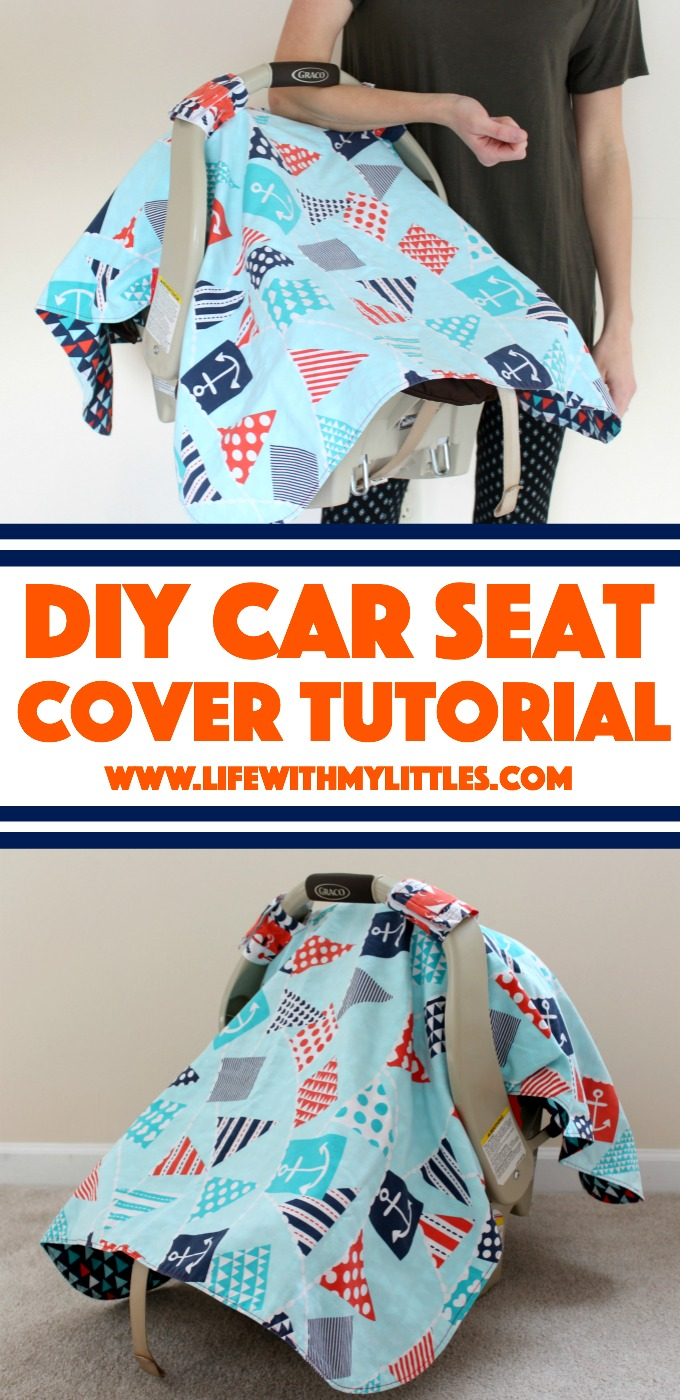 Car Seat Cover Tutorial A Cute Easy Canopy For Your Babys That