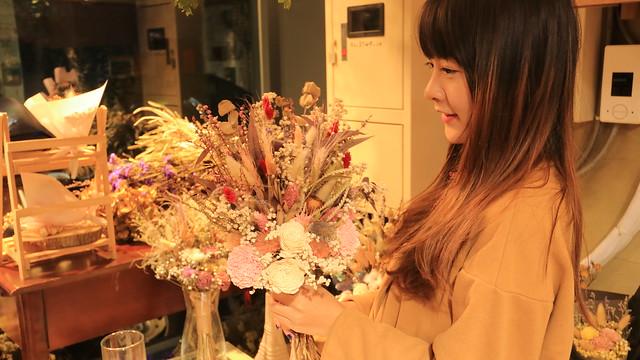 喜歡生活永生花花束,永生花捧花