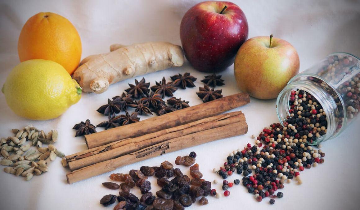 ingredientes cóctel de uva y jengibre