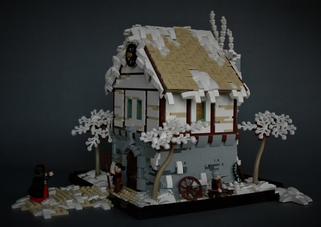 Winter cottage - side view