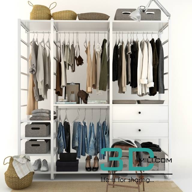 78 Cloth Wardrobe 3D Mili Download 3D Model Free 3D