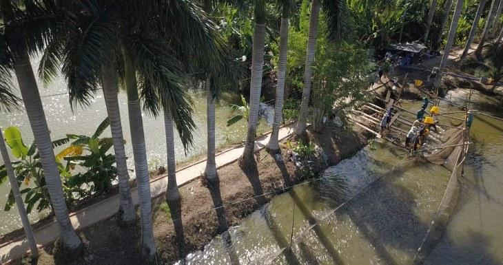 Vietnam Mekong delta fish farm