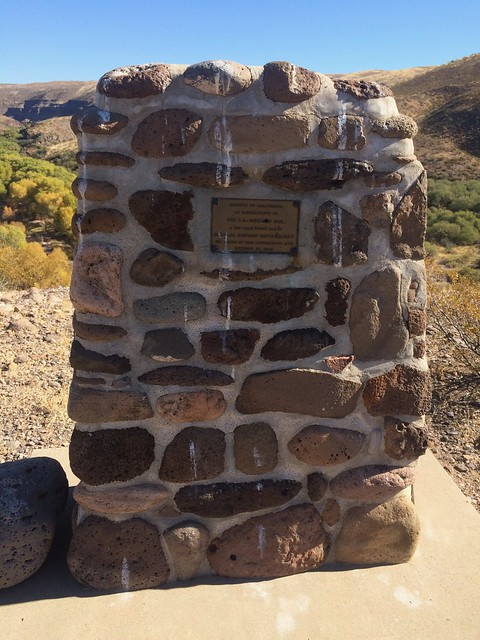 Gila Box Riverview Campground monument