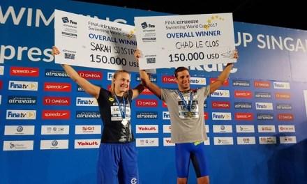 World Cup 2017: a Singapore Le Clos e Sjöström conquistano la Coppa! WRJ per Andrew e Li