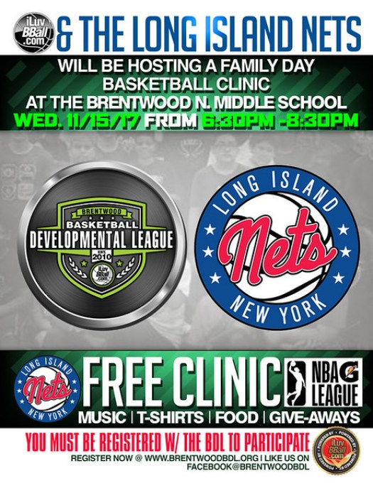 2017 Long Island Nets Brentwood BDL Clinic