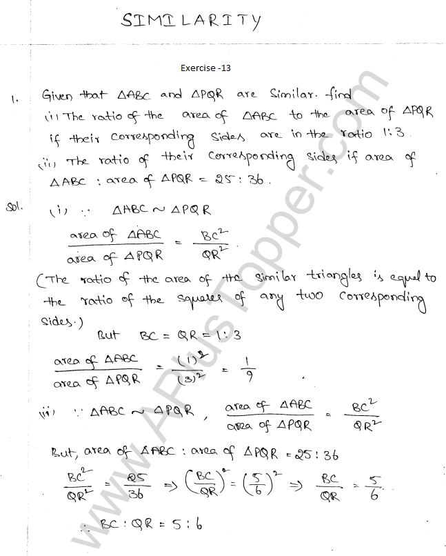 ml-aggarwal-icse-solutions-for-class-10-maths-chapter-13-similarity-1