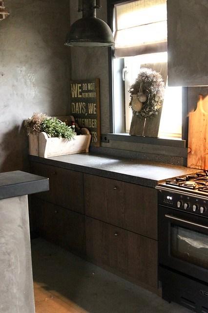 Keuken landelijke stijl sober