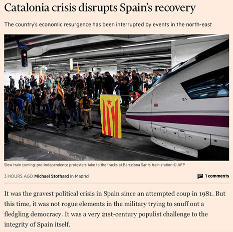 17k16 FT Catalonia crisis disrupts Spain's recovery Uti 465