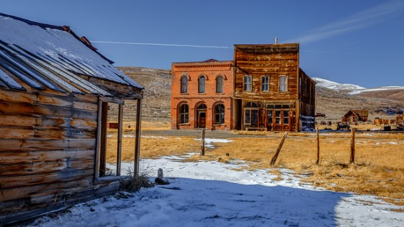 November Snow in Bodie State Historic Park, California