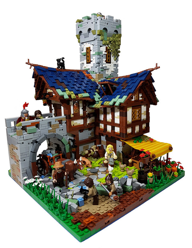 LEGO MOC Medieval Village - Road Construction