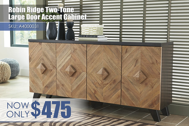 A4000031 - Robin Ridge Two-Tone Small Door Accent Cabinet $475
