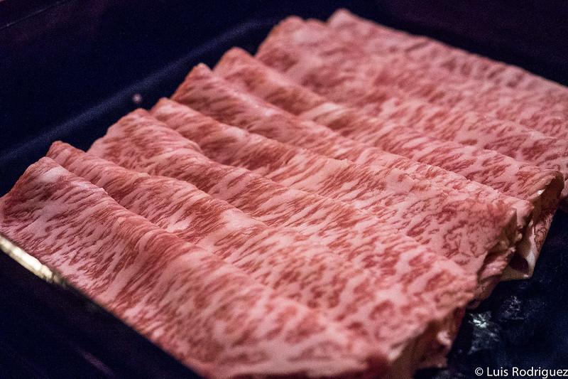Menú shabu-shabu en el estaurante Kasuke de Hoshinoya Karuizawa