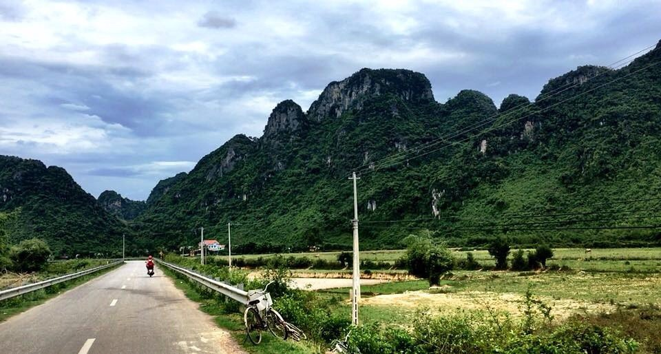 Driving towards Phong Nha National Park.