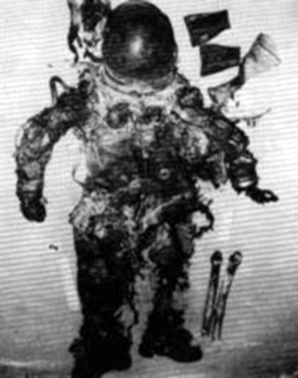 Apollo 1 astronaut Edward Higgins White II still in his sp ...