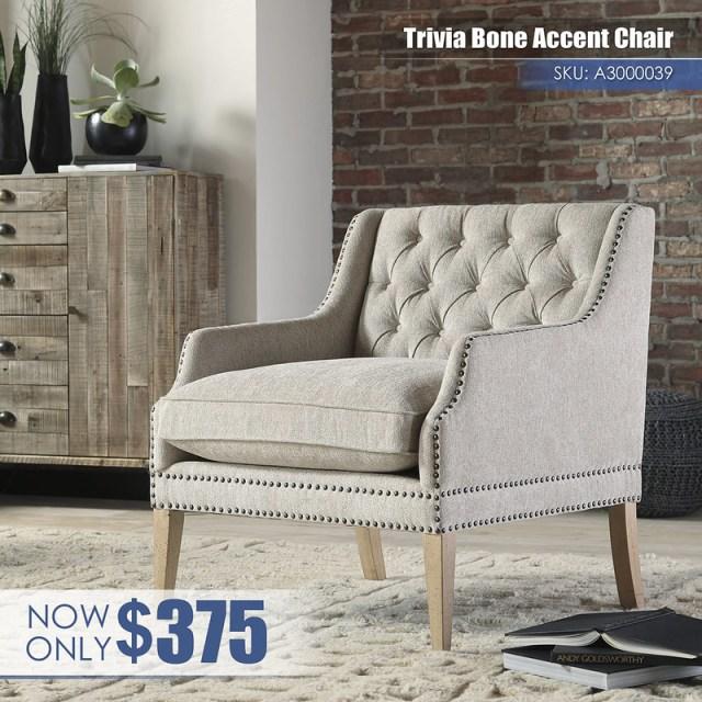 A3000039 - Trivia Bone Accent Chair $375