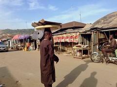 Hausa man street hawking suya, Ushafa Village, Abuja, Nigeria, #JujuFilms