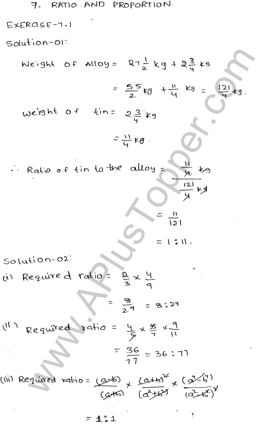 ml-aggarwal-icse-solutions-for-class-9-maths-ch-7-ratios-and-proportions-1