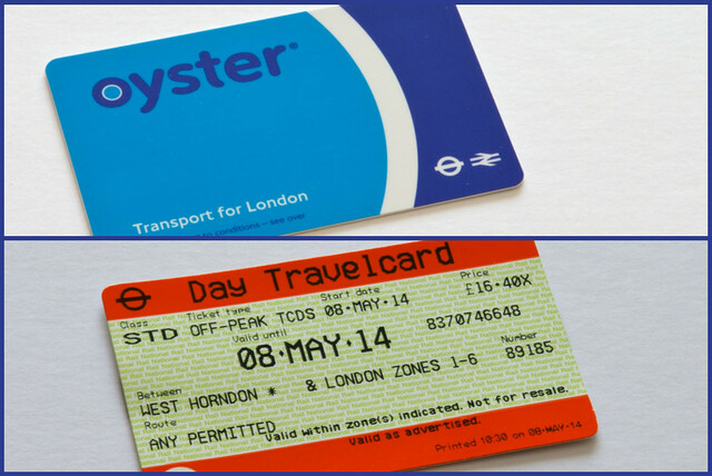 Public transportation ticket options in London