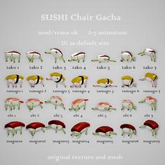 *NAMINOKE*SUSHI Chair Gacha