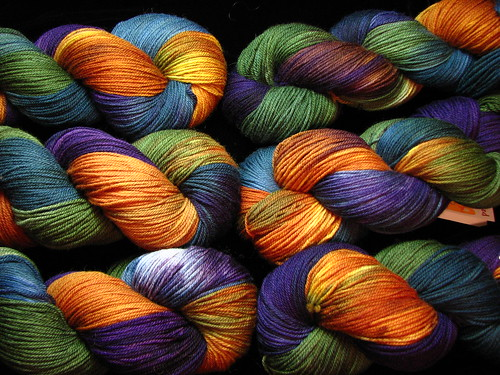 Purple Mountain Majesty - October 2017 Tiger Club - Targhee Sock Yarn