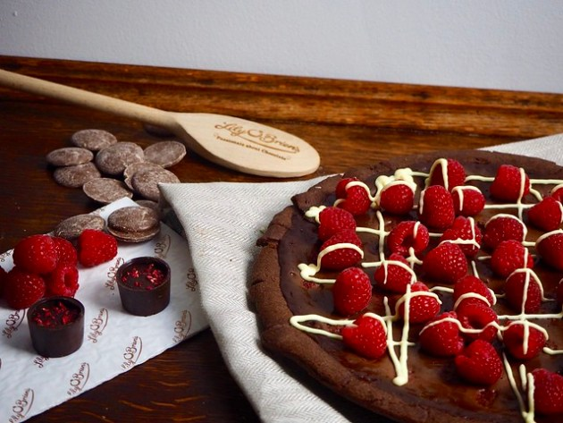 Raspberry & Chocolate Tart