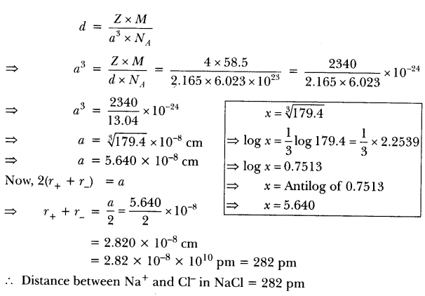 Important Questions for CBSE Class 12 Chemistry The Solid
