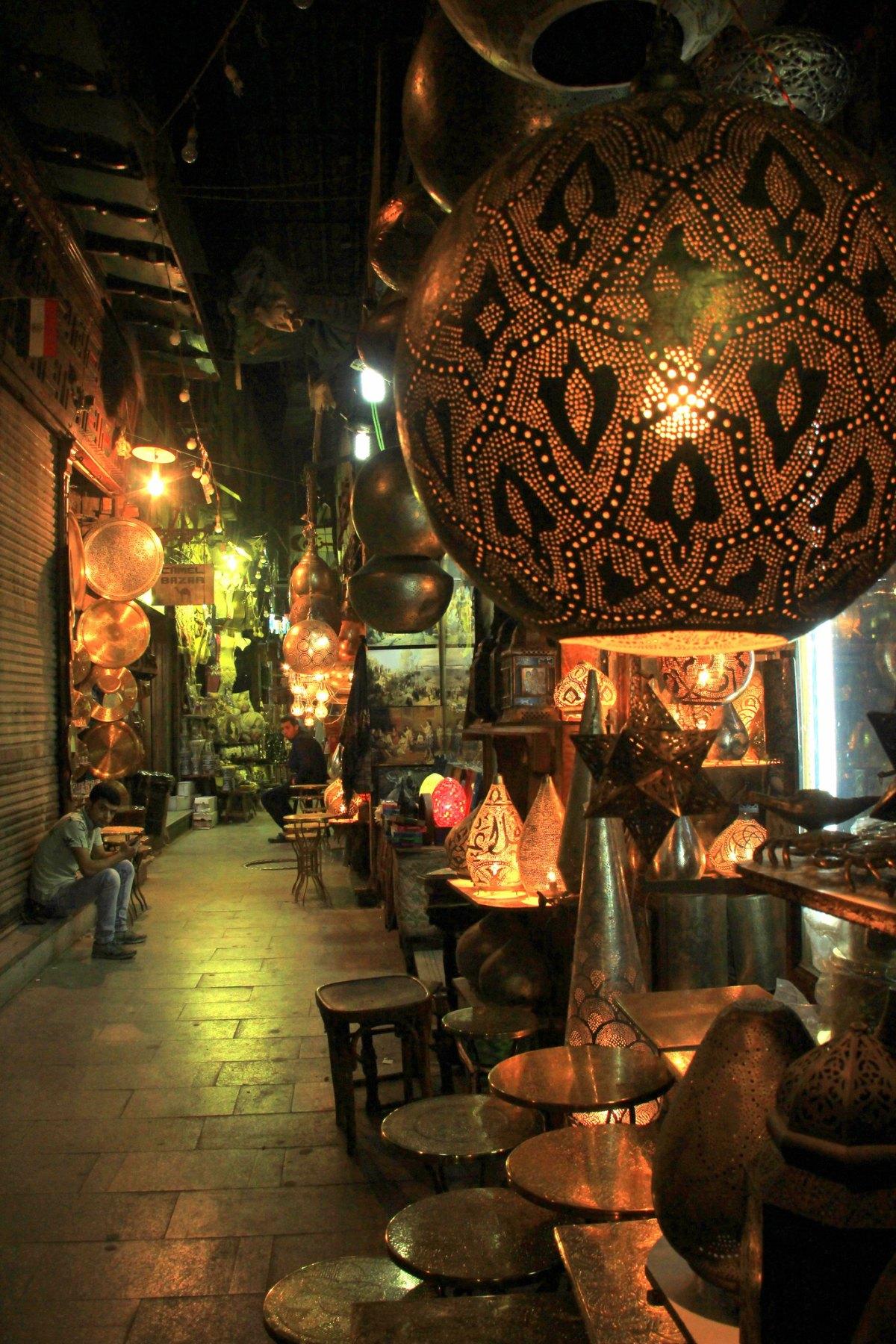 The alleys of khan el khalili market