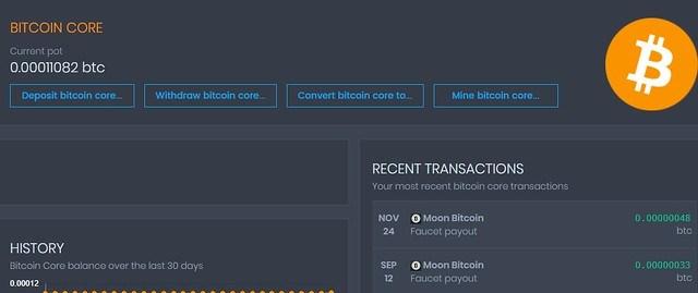 Detalle Criptomonedas en CoinPot