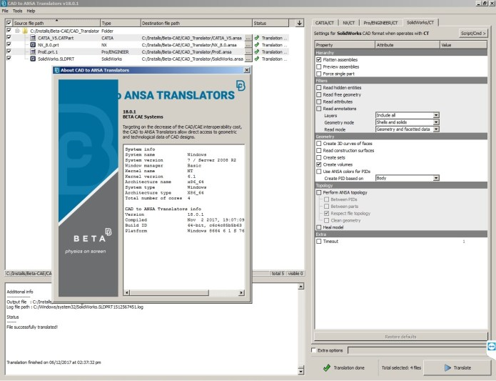 Working with BETA CAE CAD Translator 18.0.1 full license
