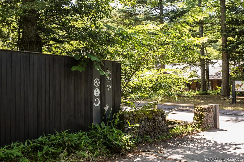 Entrada a Hoshinoya Karuizawa