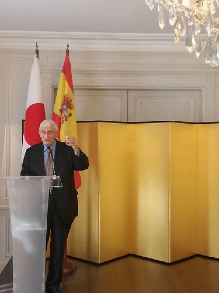 Brindis de honor a cargo del expresidente de la AEJE Dr. Fernando Rodriguez-Izquierdo