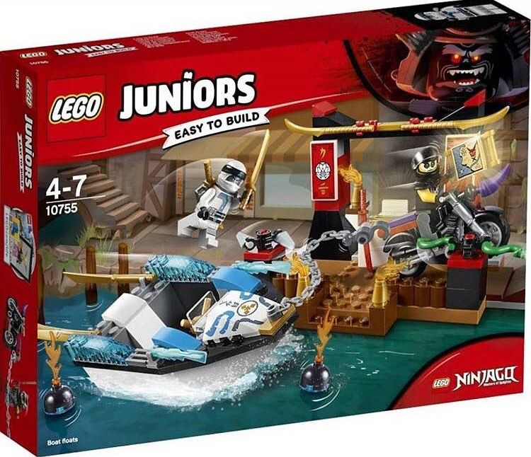 10755 - Zane's Ninja Boat Pursuit set - box art