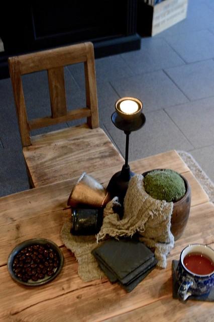 Salontafel decoratie landelijk