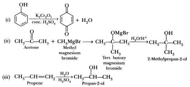 Important Questions for CBSE Class 12 Chemistry - Alcohols
