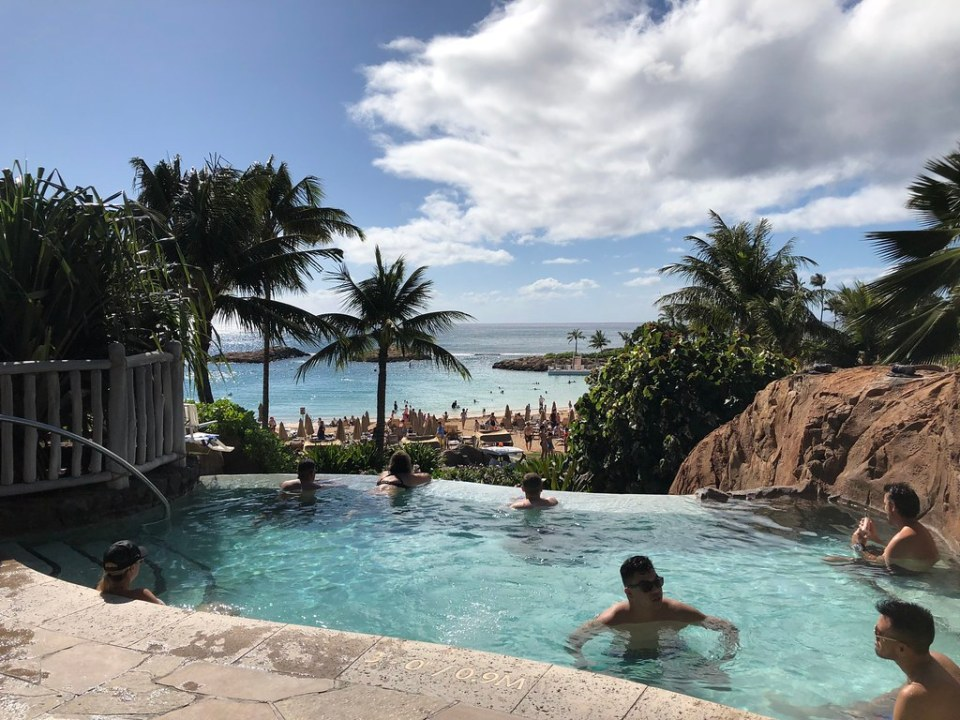 Adults Only Infinity Whirlpool at the Aulani