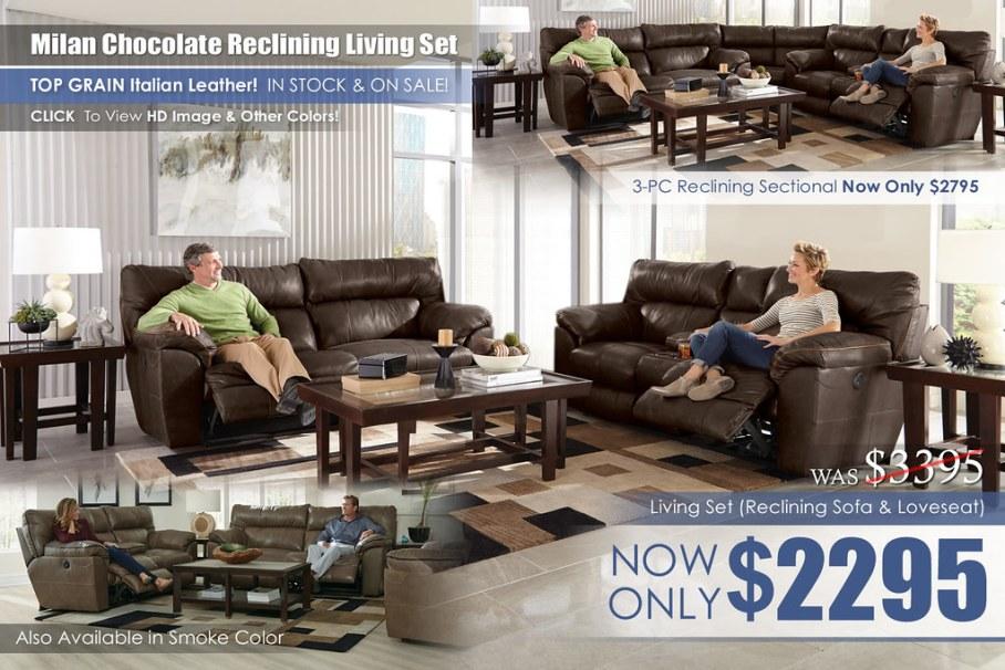 Milan Reclining Living Room Set