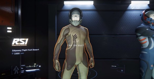 Star Citizen Suit Selection