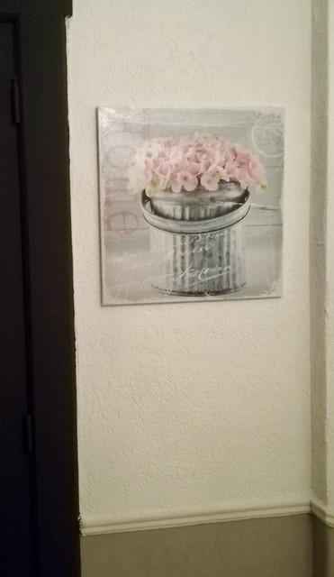 Schilderij hoedendoos met rozen