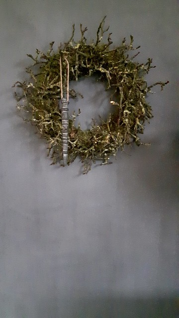 Kerstkrans met kersthanger