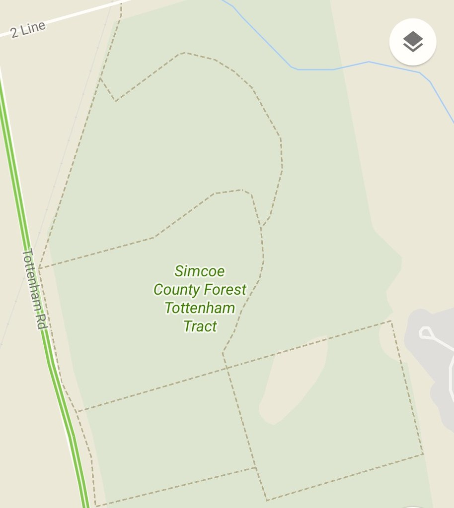 Simcoe County Forest Tottenham Tract trail map